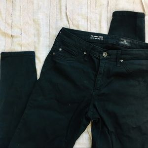 AG Jeans Abbey Ankle Super Skinny Black Jeans 26R